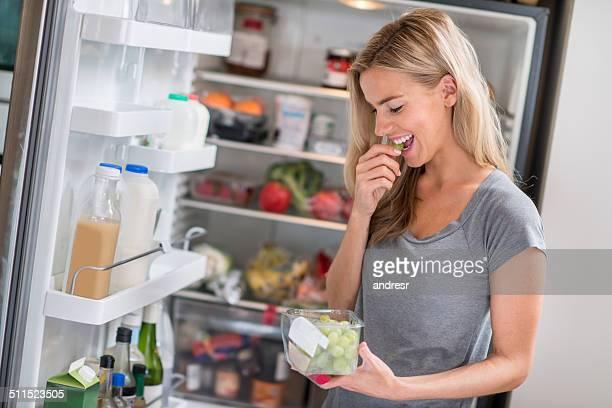 Comida sana mujer
