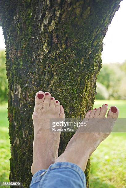healthy feet - old lady feet stock pictures, royalty-free photos & images
