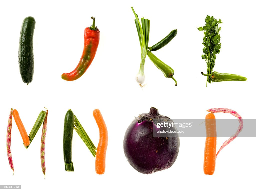 GGG alimentos saudáveis alfabeto : Foto de stock