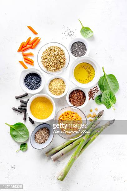 healthy food concept with healthy ingredients - black seed oil stock pictures, royalty-free photos & images