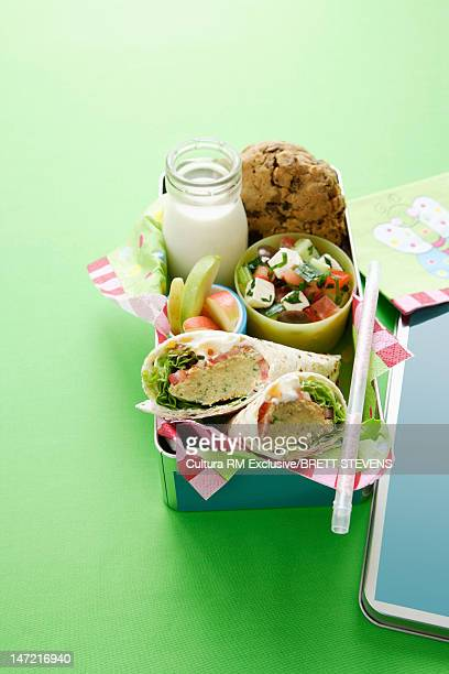 Healthy food packed in lunch box