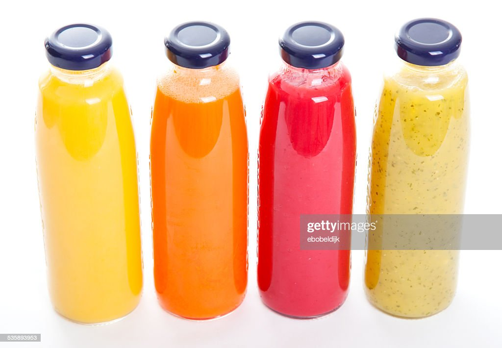 Healthy fruitbottles : Stock Photo