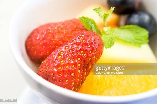 Healthy fruity dessert