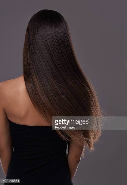 healthy hair at it's best! - steil haar stockfoto's en -beelden
