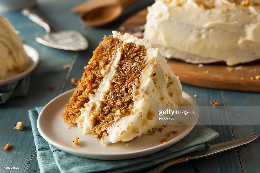 Healthy Homemade Carrot Cake : Stockfoto