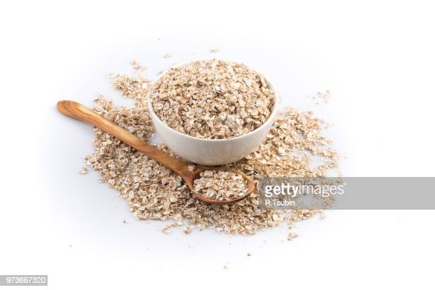 healthy homemade oatmeal breakfast in a bowl close up - oatmeal stock pictures, royalty-free photos & images