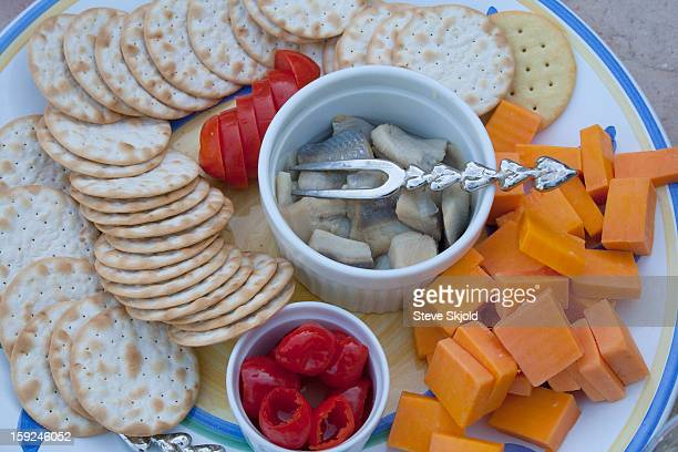 Healthy hors d'oeuvres snack tray