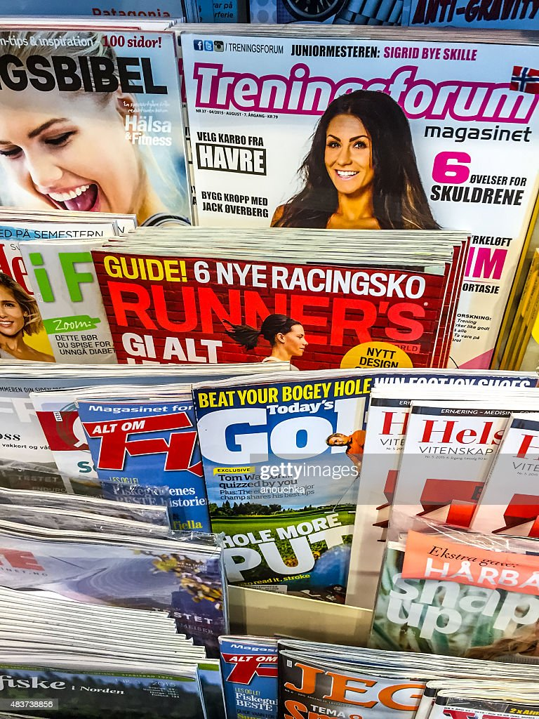 Healthy Lifestyle Magazines For Sale In Newsstand Oslo Stock Photo