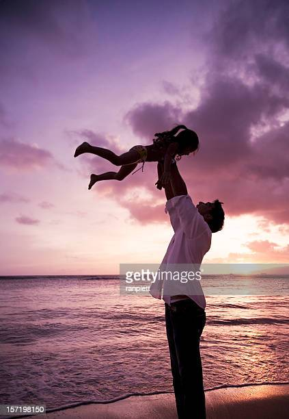 Healthy Loving Family: Father and Daughter