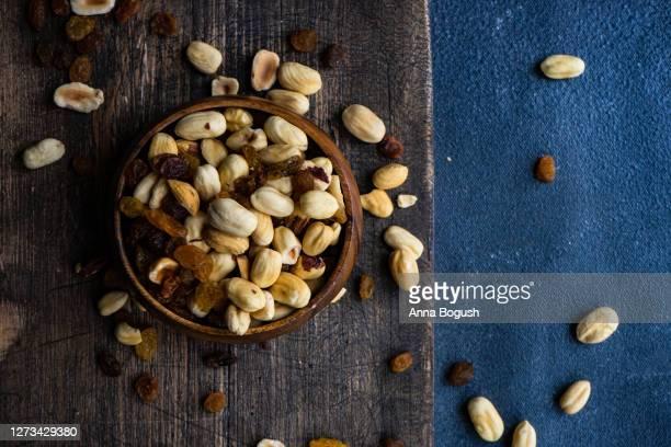 bowl full organic nuts dried grape
