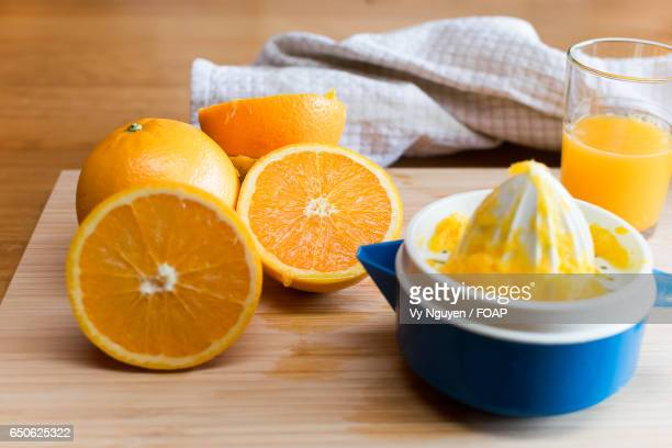 Healthy oranges on the table