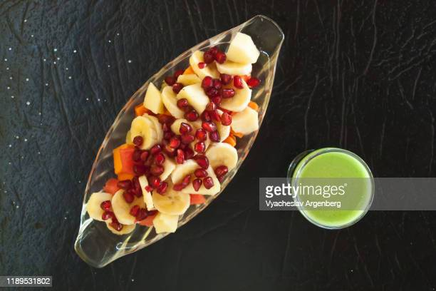 healthy organic fruit salad, goa, india - argenberg stock pictures, royalty-free photos & images