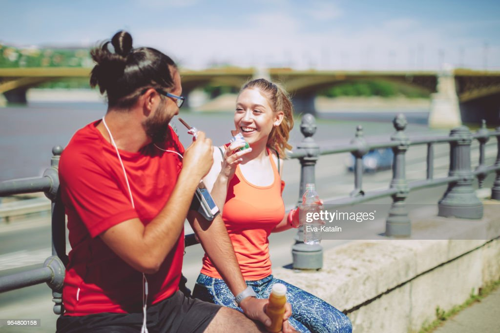 Healthy outdoors exercising : Stock Photo