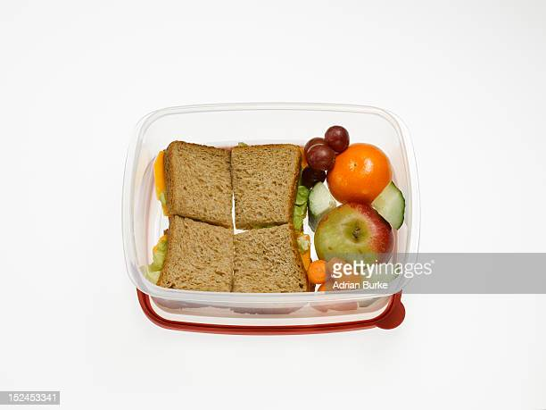 Healthy packed lunch.