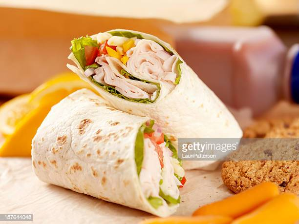 healthy packed lunch - turkey meat stock pictures, royalty-free photos & images