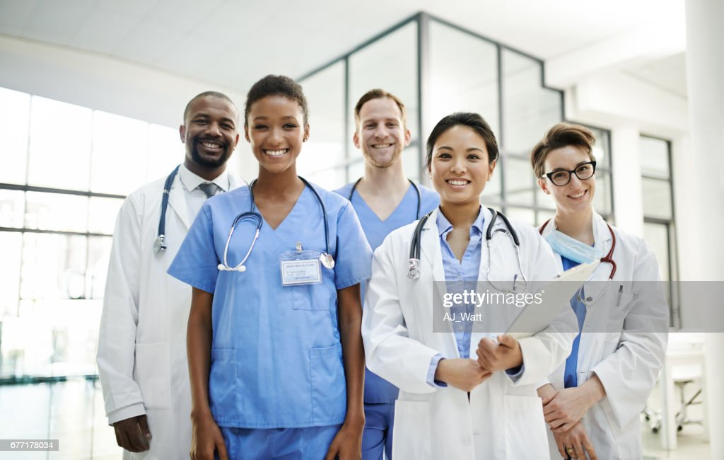 Healthy Patients Make Happy Doctors Stock Photo