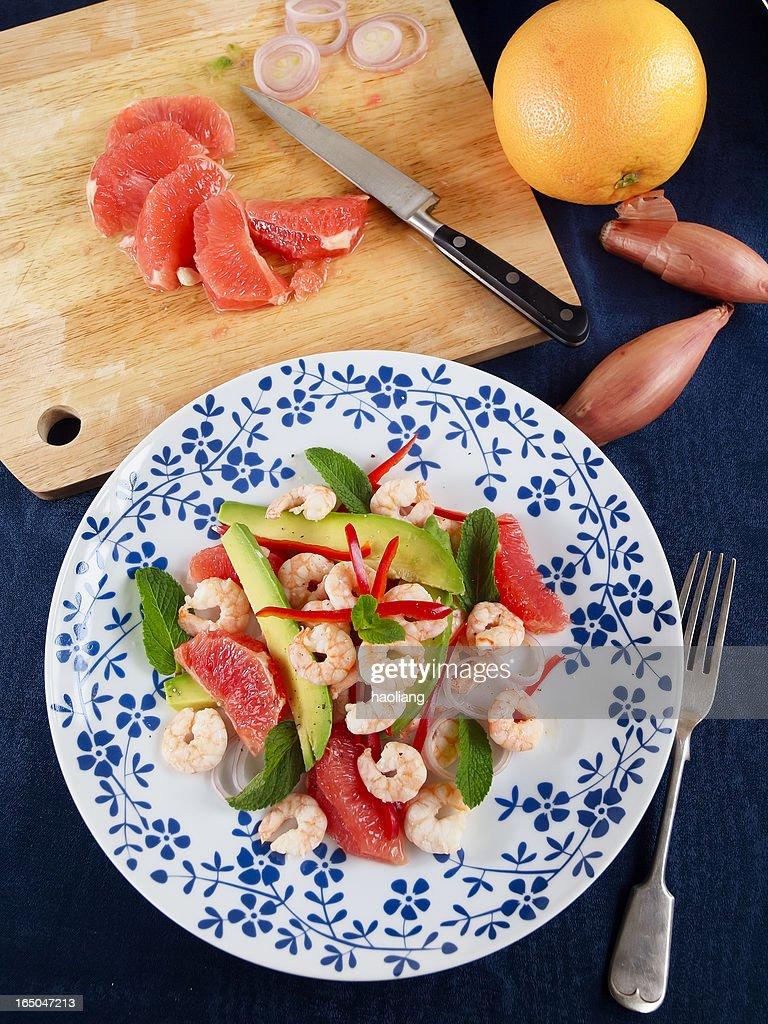 Healthy Prawn salad : Stock Photo