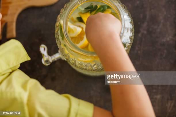 bebida refrescante saludable para toda la familia - mint plant family fotografías e imágenes de stock