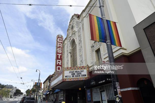 A healthy reminder from the Castro Theater in San Franciscoâs Castro District on March 18 2020