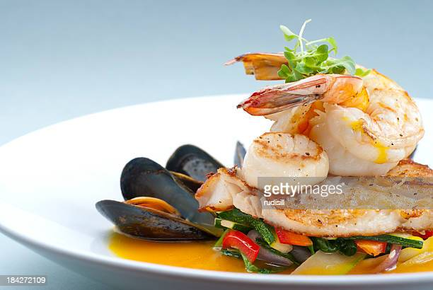 healthy seafood - seafood stock pictures, royalty-free photos & images