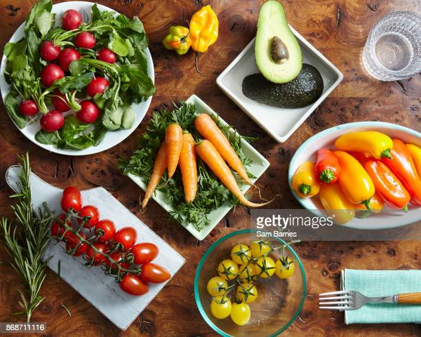 Healthy selection of vegetables