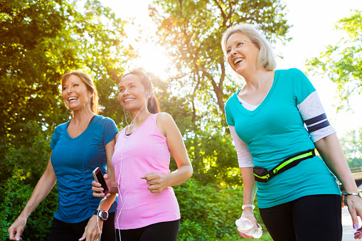 Healthy senior women exercise in park - gettyimageskorea