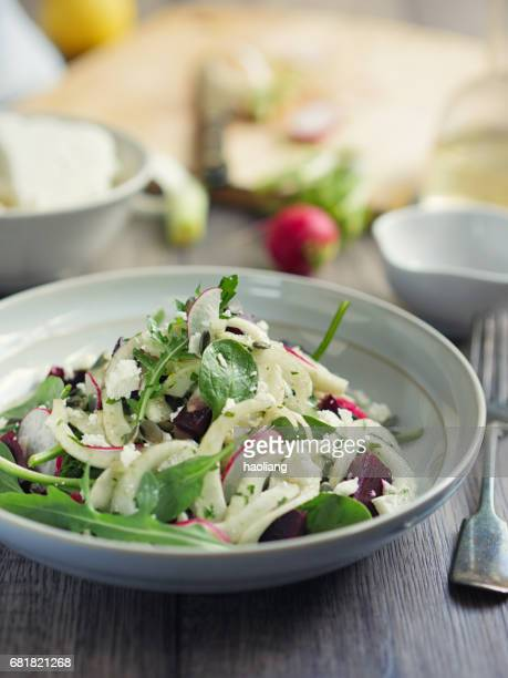 Healthy summer fennel beetroot salad