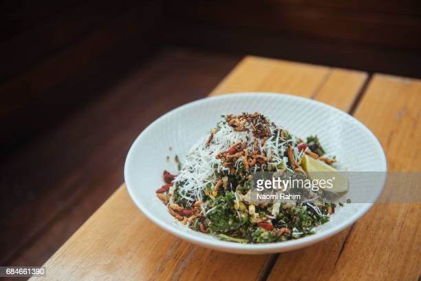 healthy superfood salad - crucifers stock pictures, royalty-free photos & images