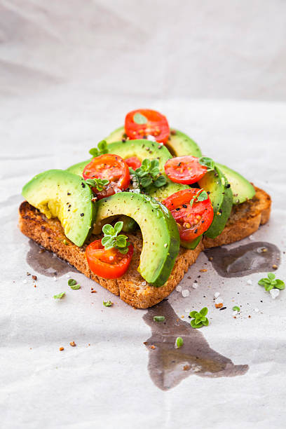 Healthy Toast With Avocado And Cherry Tomatoes Wall Art