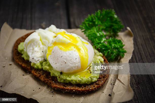 Healthy toast with avocado and egg