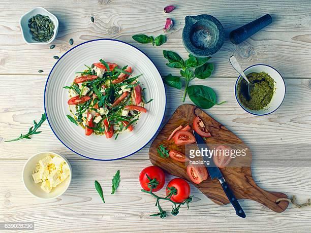 Healthy tomatoes salad