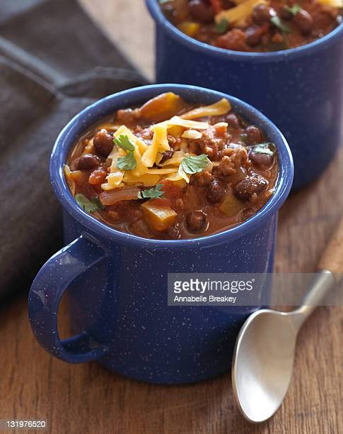 Healthy Turkey Black Bean Chili in Cup