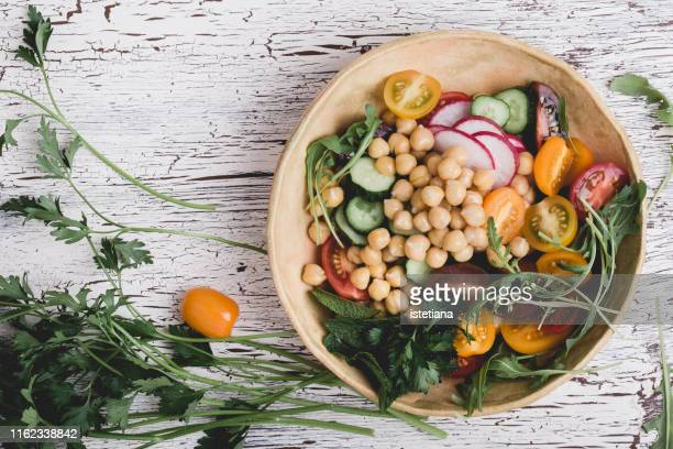 healthy vegan bowl. plant based meal - vegetarian food stock pictures, royalty-free photos & images