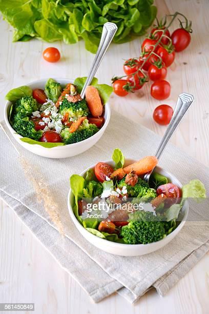 healthy vegetable salad - 蒸し ストックフォトと画像