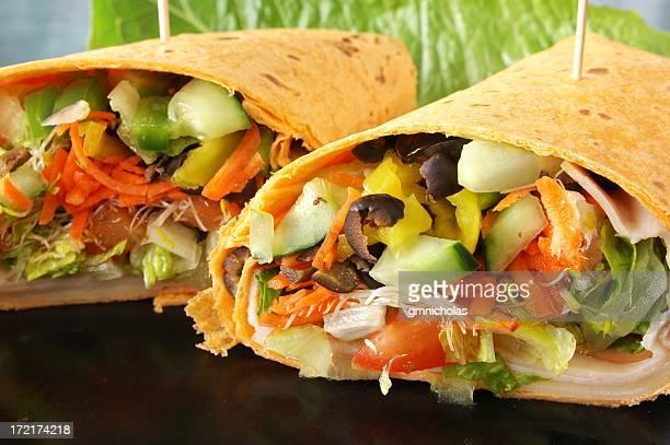 Healthy veggie wrap