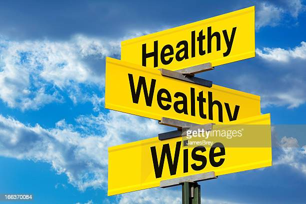 Healthy, Wealthy and Wise Street Sign