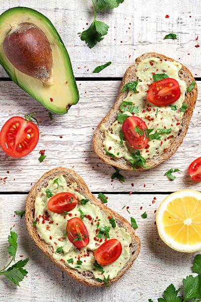 Healthy Whole Grain Bread With Avocado Wall Art