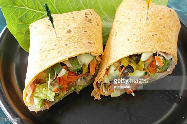 Healthy wraps that are ready to be eaten