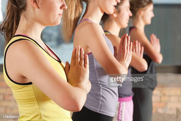 Healthy Yoga Exercise Group Workout Training Hz