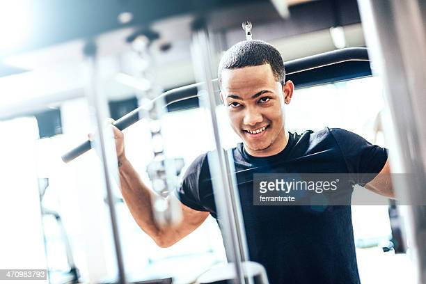 Healthy Young Man in GYM