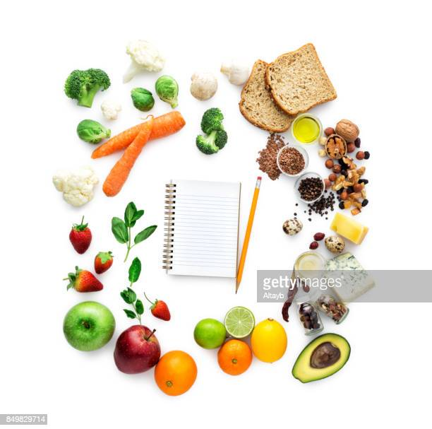 Healty Eating , Empty notebook