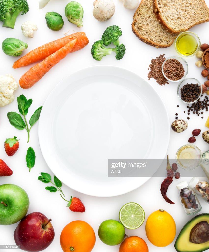 ヘルシーな各種お食事 : ストックフォト