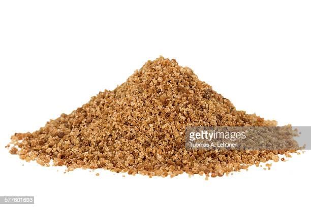 Heap of brown coconut palm sugar