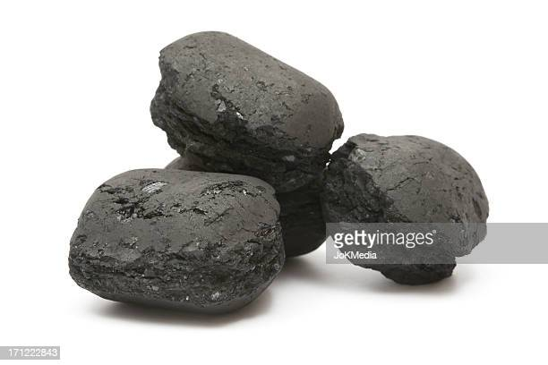 Heap of Charcoal Briquettes