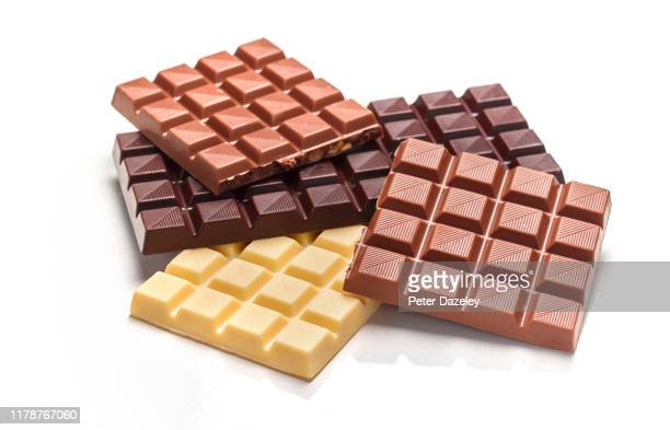 heap of chocolate bars - snack stock pictures, royalty-free photos & images