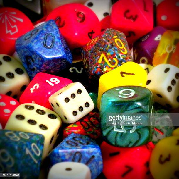 A heap of colorfull dices