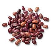Heap of dried Ayuote Morado beans