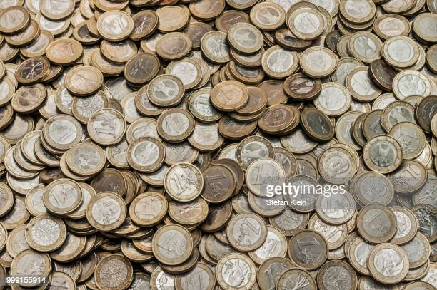 A heap of euro coins, Germany