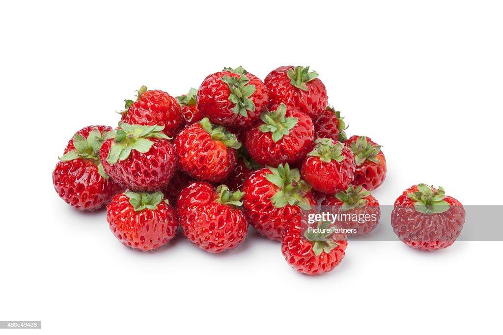 Pila de strasberries maduros frescos : Foto de stock