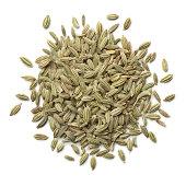 Heap of green fennel seeds